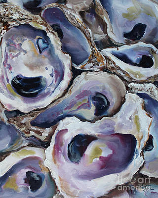 Oyster Painting - Oyster Shells 2 by Kristine Kainer