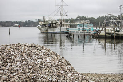 Photograph - Oyster Shells And Boats  by John McGraw