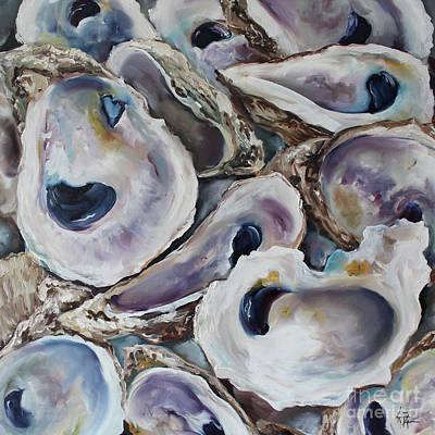 Oyster Shells Original by Kristine Kainer