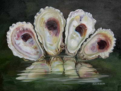 Oyster Shells Art Print by Phyllis Beiser