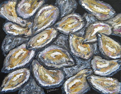 Oyster Painting - Oyster Stack by JoAnn Wheeler