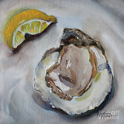 Painting - Oyster With Lemon by Kristine Kainer