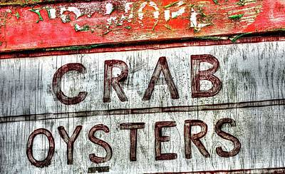 Photograph - Oysters Crab by Jerry Sodorff