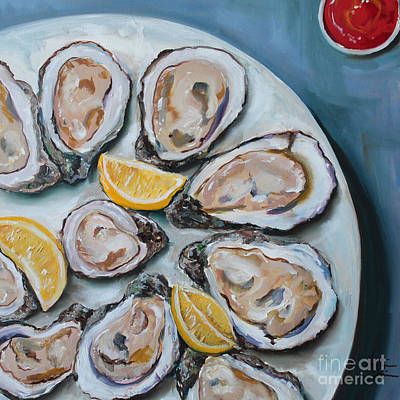 Oysters On The Half Shell Original by Kristine Kainer