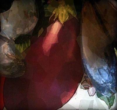 Yesayah Mixed Media - Oysterseggplant by Fania Simon