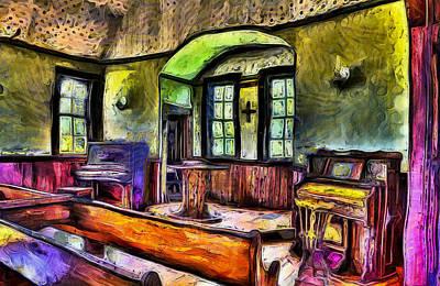 Oysterville Church Interior Art Print