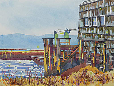 Painting - Oysterville Dusk by Sherri Bails