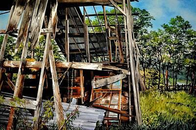 Painting - Ozark Barn by Robert W Cook