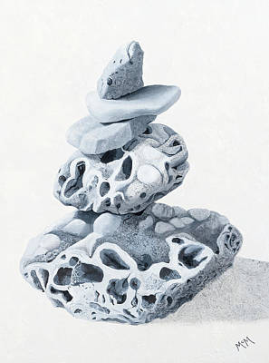 Painting - Ozark Cairn by Garry McMichael
