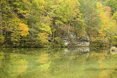 Photograph - Ozark Fall Reflections by Steven Bateson