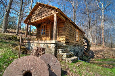Photograph - Ozark Grist Mill by Steve Stuller