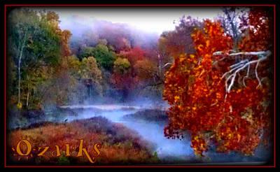 Ozark Mountain Mist Art Print by Lesli Sherwin