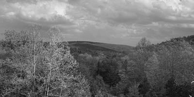 Photograph - Ozark Mountains In Black And White by Scott Sanders