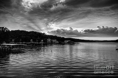 Photograph - Ozark Sunrise Monotone by Dennis Hedberg