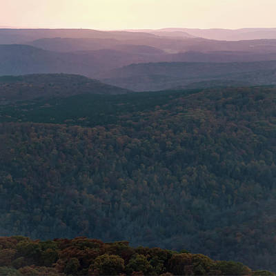 Photograph - Ozark Sunset - White Rock Mountain by Gregory Ballos