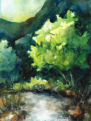 Painting - Ozarks Anywhere Usa A Study by Jacki Kellum