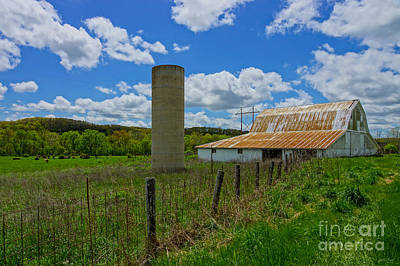 Photograph - Ozarks Old Barn And Silo by Jennifer White