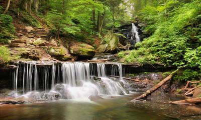 Creek Mixed Media - Ozone Falls Ricketts Glen by Lori Deiter