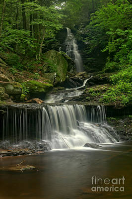 Photograph - Ozone Falls Twin Cascades by Adam Jewell