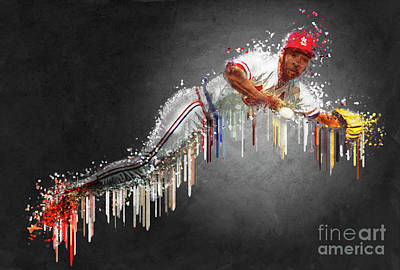 Gold Glove Digital Art - Ozzie Smith by Edelberto Cabrera