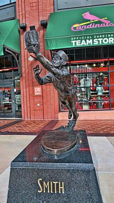 Photograph - Ozzie Smith Statue # 2 - Busch Stadium by Allen Beatty