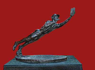 Photograph - Ozzie Smith Statue - Busch Stadium by Allen Beatty