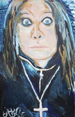 Oakland Raiders Painting - Ozzy  by Jon Baldwin  Art