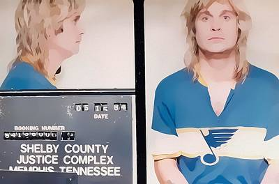 Music Mixed Media - Ozzy Mugshot by Dan Sproul