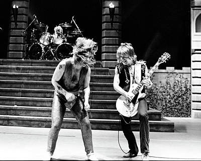 Singer Photograph - Ozzy Osbourne And Randy Rhoads 1981 by Chris Walter