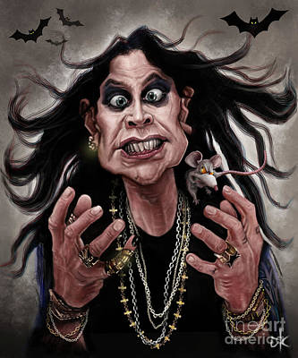 Digitalart Drawing - Ozzy Osbourne by Andre Koekemoer