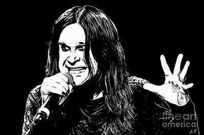 Drawing - Ozzy Osbourne Collection - 1 by Sergey Lukashin