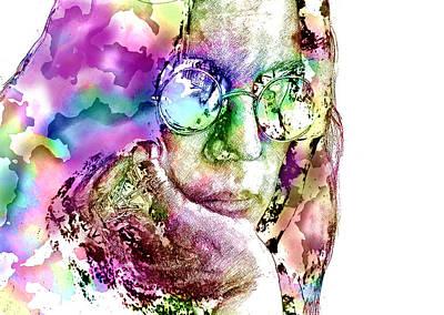 Singer Digital Art - Ozzy Osbourne by Elena Kosvincheva