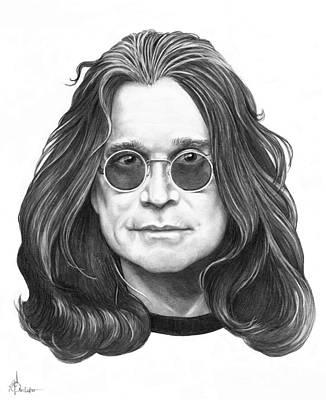 Ozzy Osbourne Drawing - Ozzy Osbourne by Murphy Elliott