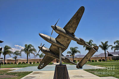 P-38 Memorial March Field Museum Print by Tommy Anderson