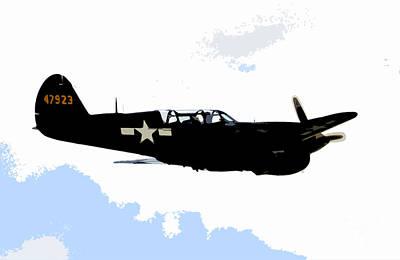 Warplane Painting - P 40 by David Lee Thompson