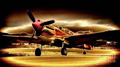 Photograph - P-40 Warhawk Blazrd by Gus McCrea