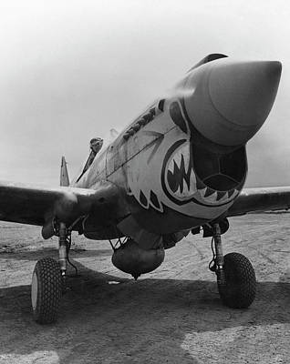 Fighter Plane Photograph - P-40 Warhawk - Flying Tiger by War Is Hell Store