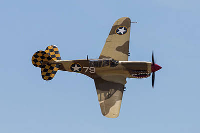 Photograph - P-40 With Shark Mouth  by John Daly