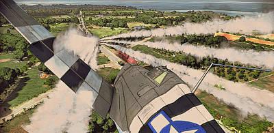 Painting - P-47 Thunderbolt - Attack by Andrea Mazzocchetti