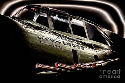 Photograph - P-47 Thunderbolt Eight Fifties Eleven Kills Dark by Gus McCrea