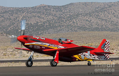 Photograph - P-51 Dago Red  5 Time Winner Of Reno Air Races by Antoine Roels