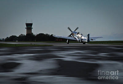 Art Print featuring the photograph P-51  by Douglas Stucky