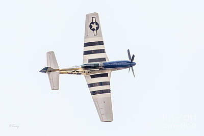 Photograph - P-51 Hard Bank by Rene Triay Photography