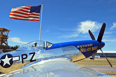 P-51 Hell - Er - Bust Art Print by Larry Keahey