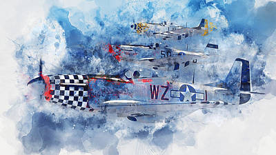 Painting - P-51 Mustang - 02 by Andrea Mazzocchetti