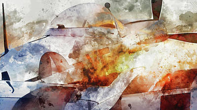 Painting - P-51 Mustang - 03 by Andrea Mazzocchetti