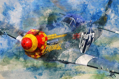 Painting - P-51 Mustang - 04 by Andrea Mazzocchetti