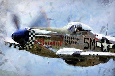 Painting - P-51 Mustang - 16 by Andrea Mazzocchetti