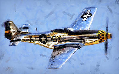 Painting - P-51 Mustang - 17 by Andrea Mazzocchetti