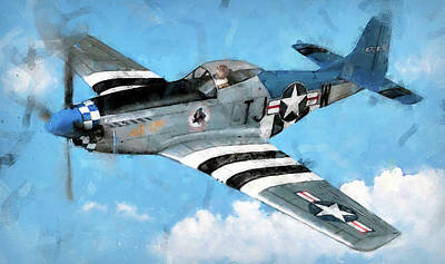 Painting - P-51 Mustang - 18 by Andrea Mazzocchetti